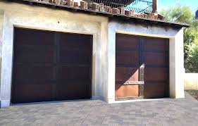 Modern Door Trim Metal Clad Garage Doors U2013 Patina Collection U2013 Wood Trim U2013 Door