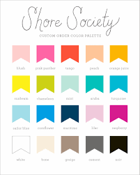 Color Meanings Chart by Shore Society Lake Erie Love Prints New Colors