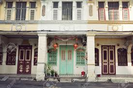 colonial houses georgetown penang malaysia stock photo picture
