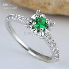 emerald silver rings images Women green emerald band ring silver ring size 6 wed j7676 jewelry jpg