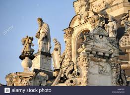 angels and apostles at sunset fragment exterior decoration of the