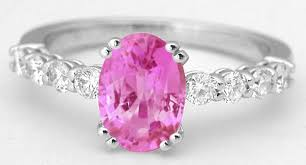 diamonds sapphire rings images 2 24 ctw oval pink sapphire ring with round diamonds in 14k white jpg