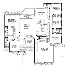 Four Bedroom Three Bath House Plans Open Plan Houses Ranch Home Amazing Open Floor House Plans Gif