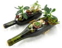 wine bottles mosaic wine bottle planter green living