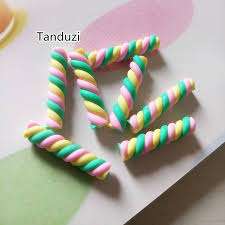 polymer clay home decor tanduzi 100pcs wholesale rolls polymer clay macaron twist clay