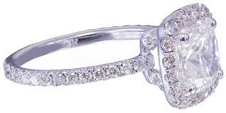 cushion cut diamond engagement rings 18k white gold cushion cut diamond engagement ring 2 10ctw i vs2