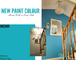 Behr Basement Waterproofing Paint Front Hall Accent Wall New Paint Colour Behr Placid Sea