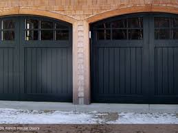yellow wall garage door styles for ranch house with glass windows