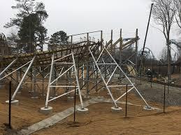 Busch Gardens Williamsburg New Ride by Busch Gardens Shows Off New Wooden Roller Coaster The Virginia