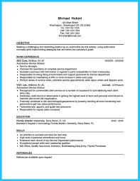Automotive Service Manager Job Description Resume Writing A Concise Auto Technician Resume