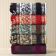 better homes and gardens tulip scroll towel collection walmart com