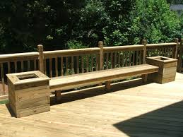 build benches w planters for back deck maybe add a matching table