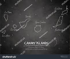 Canary Islands Map Canary Islands Map Blackboard Chalkboard Vector Stock Vector
