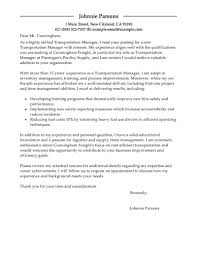 Shipping Manager Resume Logistics Trainee Cover Letter