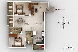top view floor plan srinidhi apartments kukkikatte udupi
