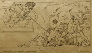 john flaxman u0027s drawing of a scene from homer u0027s iliad drawn in