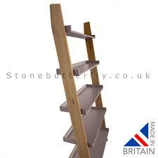 Oak Ladder Bookcase by Kensington Ladder Shelf Storage Unit Oak Dark Grey