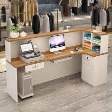 Simple Reception Desk Table Cashier Counter Simple Modern Small Reception Desk Clothing