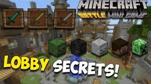 minecraft mini games lobby waiting room secrets youtube