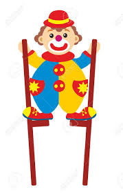 clown stilts clown on stilts stock photo picture and royalty free image image