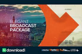 elegant broadcast package videohive project free download