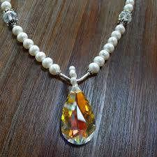 pearls swarovski necklace images Freshwater pearl necklace with swarovski crystal pendant jpg