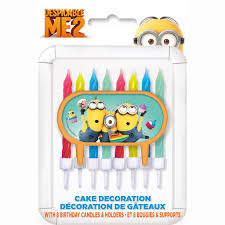 despicable me birthday cake decoration u0026 candle set