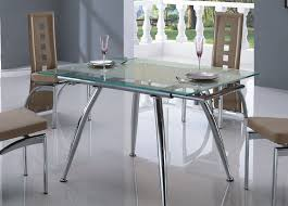 Small Glass Kitchen Tables by Glass Dinette Sets Glass Dining Table With Oak Legs Charming