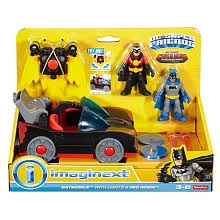 imaginext batmobile with lights imaginext dc super friends batmobile with lights red robin action