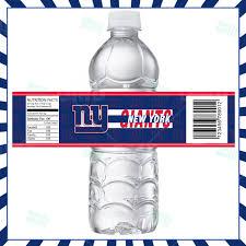 sports invites new york giants football bottle labels