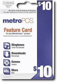 metro pcs prepaid card metropcs prepaid wireless feature card metropcs best buy