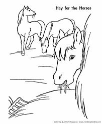 horse coloring hay horses cavalos