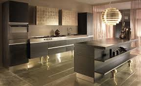 Gold Kitchen Cabinets - unique color combinations for the kitchen
