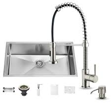 Kitchen Sink And Faucets by Vigo Vg15079 Undermount Stainless Steel Kitchen Sink With Faucet