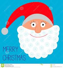 face of santa claus snowflakes merry christmas c stock vector