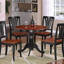 furniture mesmerizing cheap dinette sets with immaculate stylish dark brown round table and charming cheap dinette sets plus entrancing brown rug