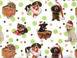 large rolls of christmas wrapping paper playful puppies dog heavy embossed pet gift wrapping paper acorn