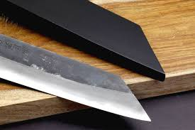 Japanese Carbon Steel Kitchen Knives by Yoshihiro Mizu Yaki Blue High Carbon Steel Black Forged Kiritsuke