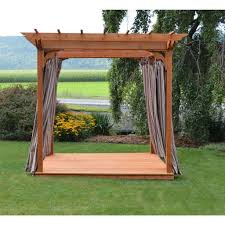 a u0026 l furniture co western red cedar 6 u0027x8 u0027 pergola w deck u0026 swing