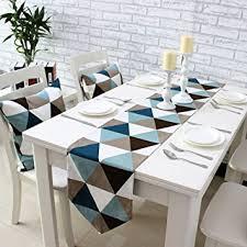 home decor table runner amazon com uphome modern geometric triangle pattern table runner