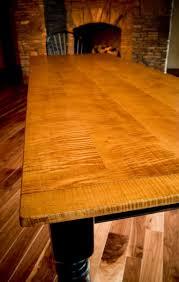 custom 10 u0027 tiger maple dining table by carolina farm table