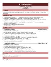 Medical Office Assistant Resume Free Medical Assistant Resume Templates Resume Template And