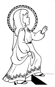 mary coloring page nursery rhyme coloring pages all saints day
