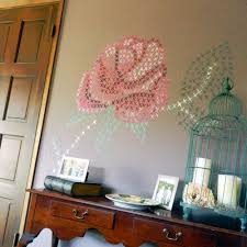 painted cross stitch wall mural diy