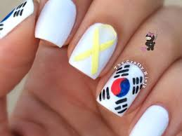 american flag nail art with tutorial video