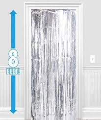 Silver Foil Curtains Silver Foil Metallic Curtain Tinsel Foil Decorations Door
