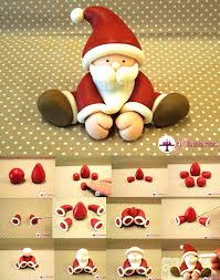 Christmas Cake Decorations Santa by Fondant Santa Tutorial For All Your Christmas Cake Decorations