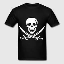 pirate skull and crossbones white on transparent t shirt spreadshirt