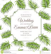 What Is Rsvp In Invitation Card Wedding Invitation Card Greenery Palm Leaves Rsvp Stock