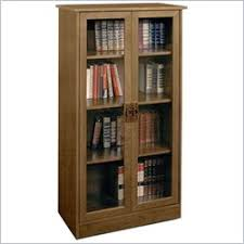 Glass Door Bookshelf Barrister Bookcase Home Library Bookcase One Way Furniture